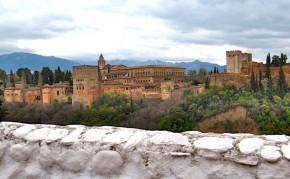 Mirador con vistas a la Alhambra de Granada