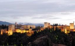 Atardecer con vistas a la Alhambra de Granada
